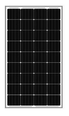 150W IP65 36 Cells Home Solar And Wind Power Systems With Black Frame